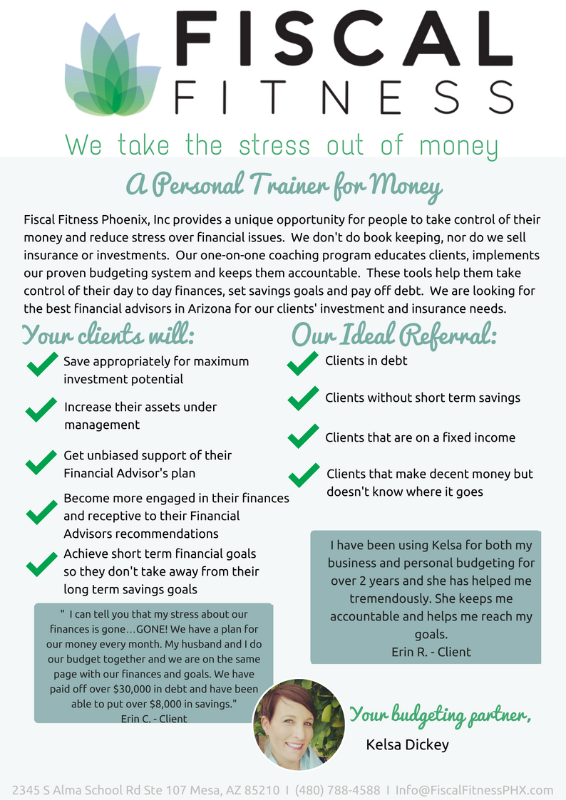 Benefits to financial advisor's client