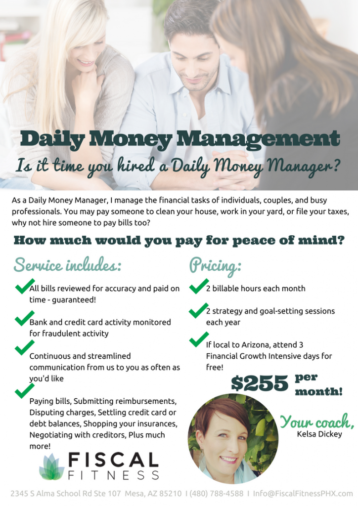 daily money manager pricing