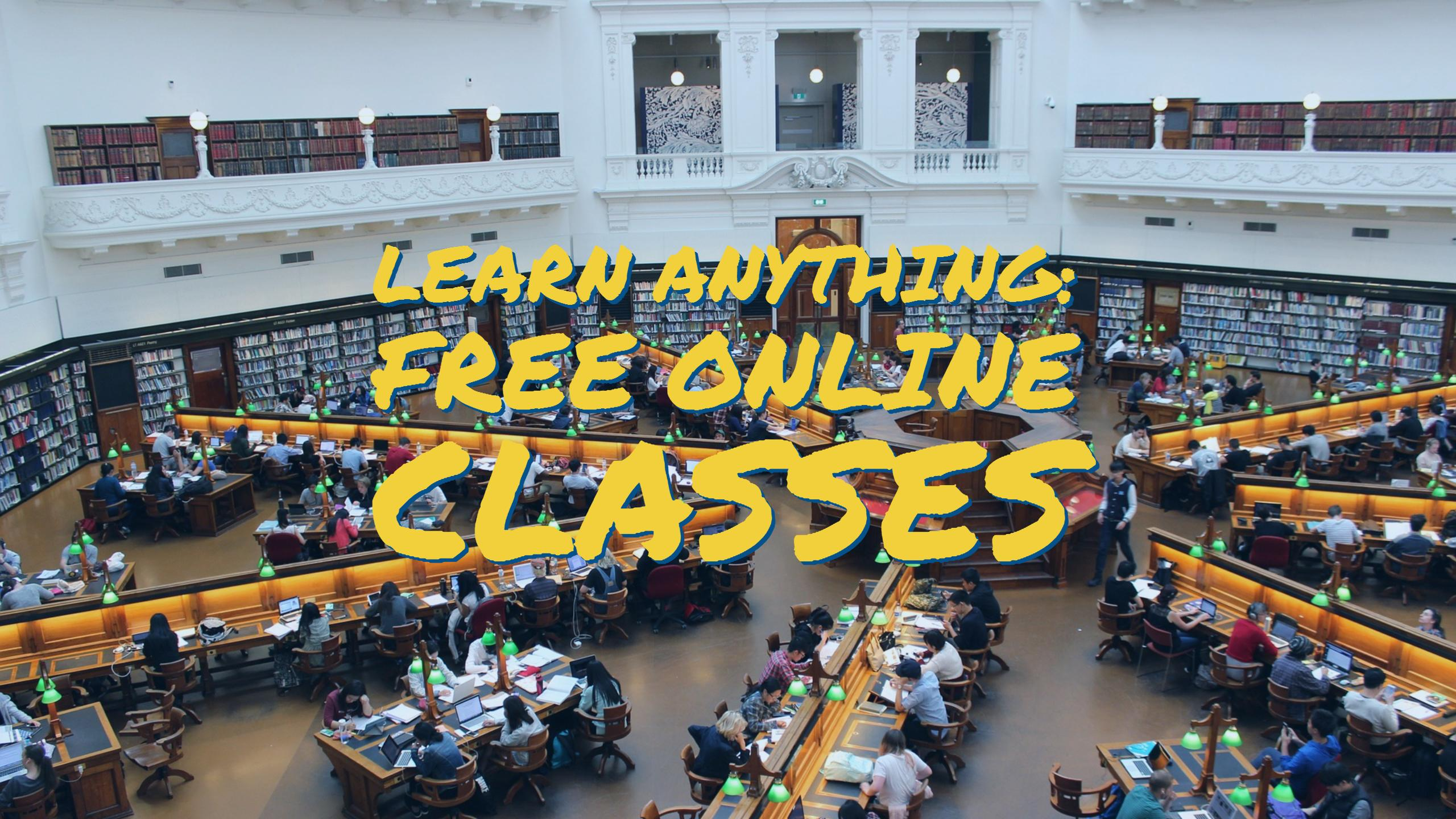 Learn anything online with these free resources for online classes from free stuff friday and fiscal fitness phoenix