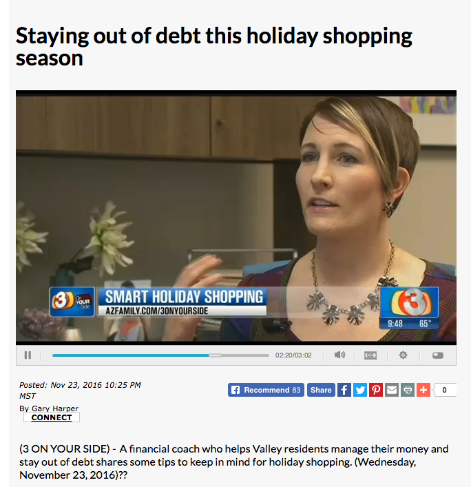 Kelsa Dickey Phoenix Financial Coach from Fiscal Fitness PHX shopping tips tholiday season